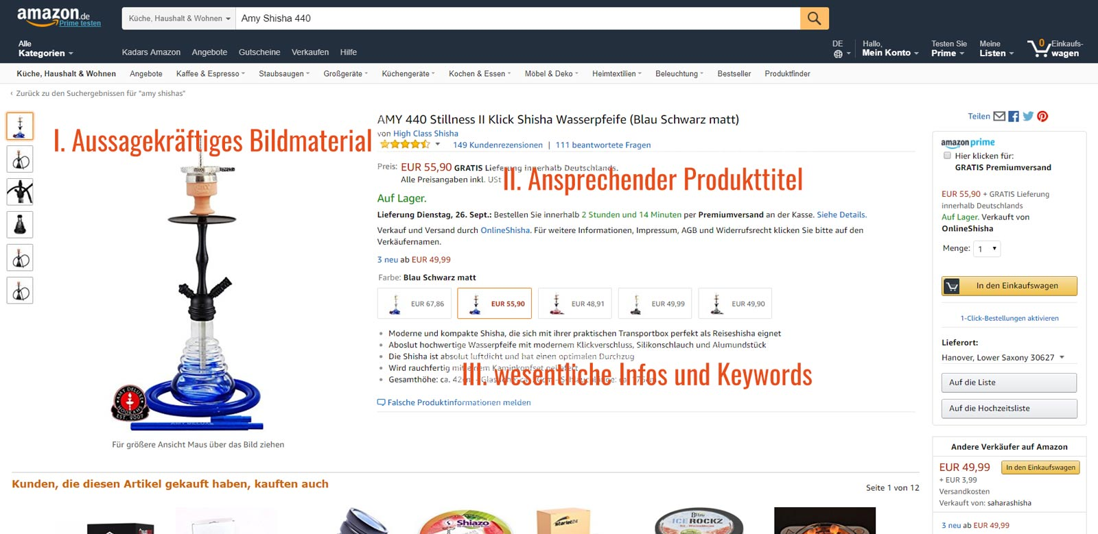 Amazon Optimierung / Amazon SEO